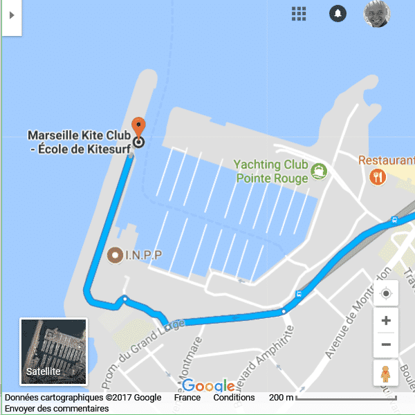 Localisation - MARSEILLE KITE CLUB